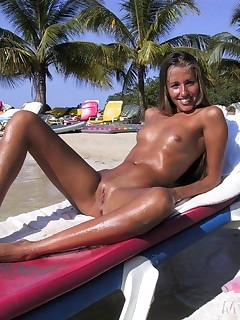 Interracial group nude sunbathing pictures share