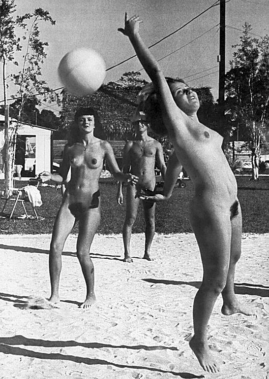Vintage Nudists - Beach Pussy