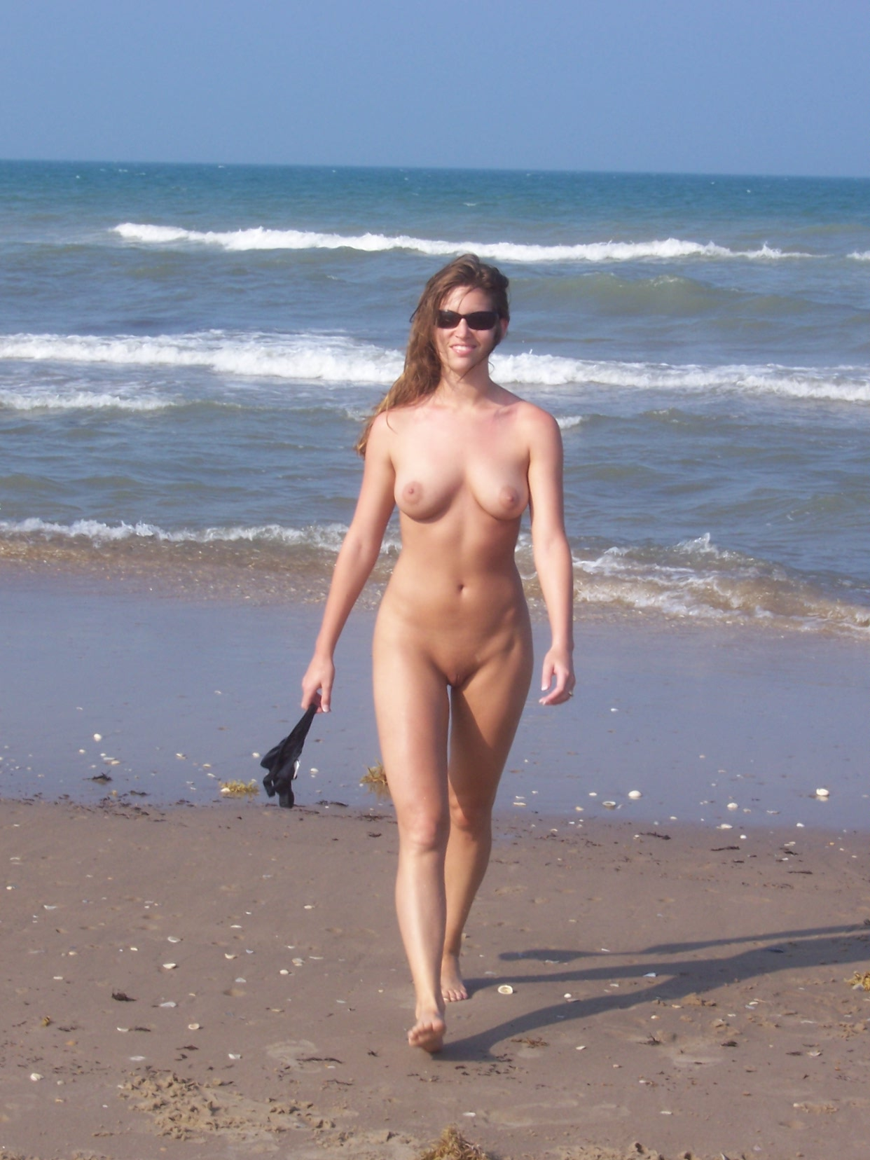 Are walking naked at the beach can