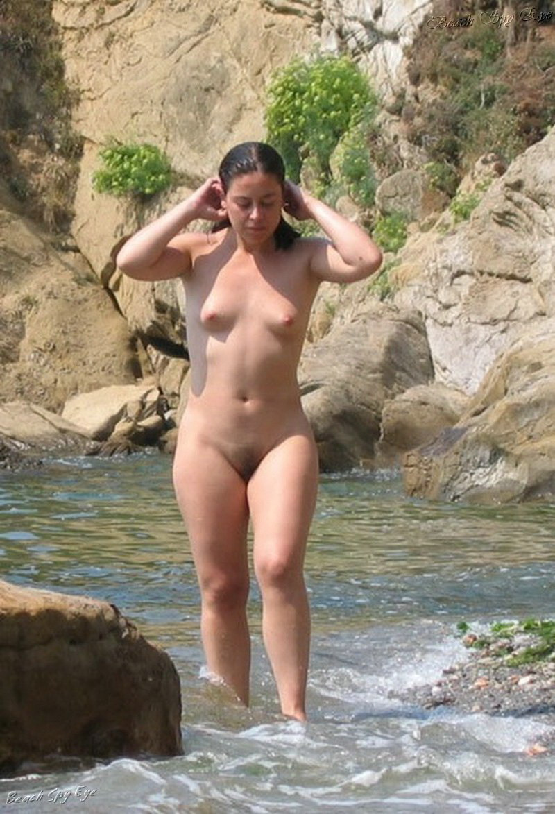 You were nude girl standing on the beach