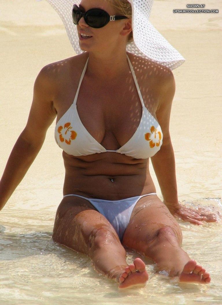 White bikini pussy