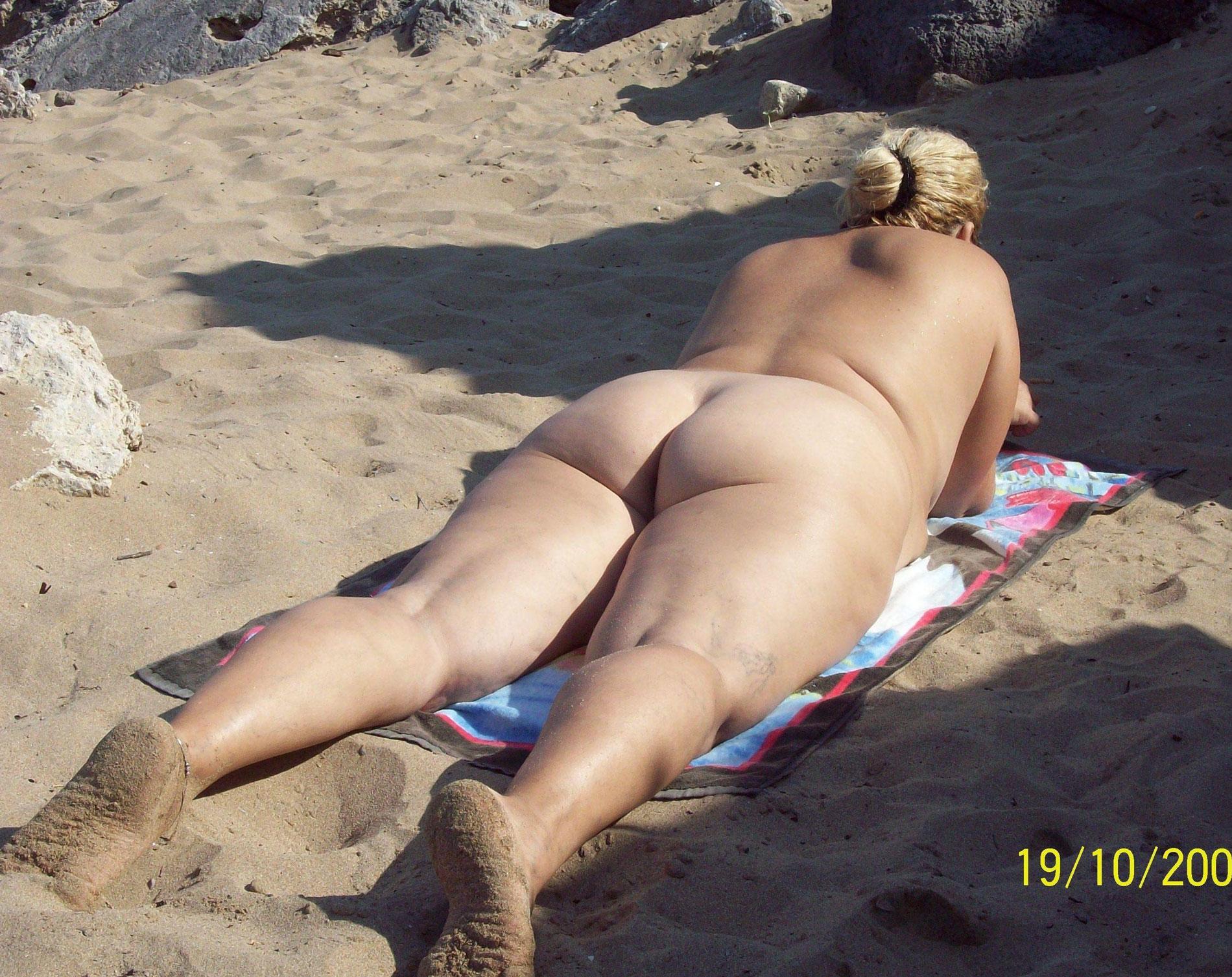 Nude beach fat mom